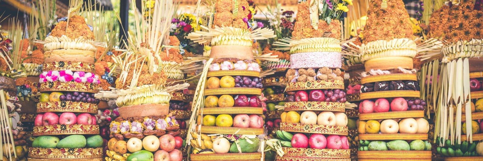 Balinese food offerings