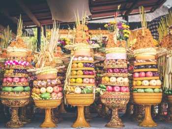 Balinese food offerings