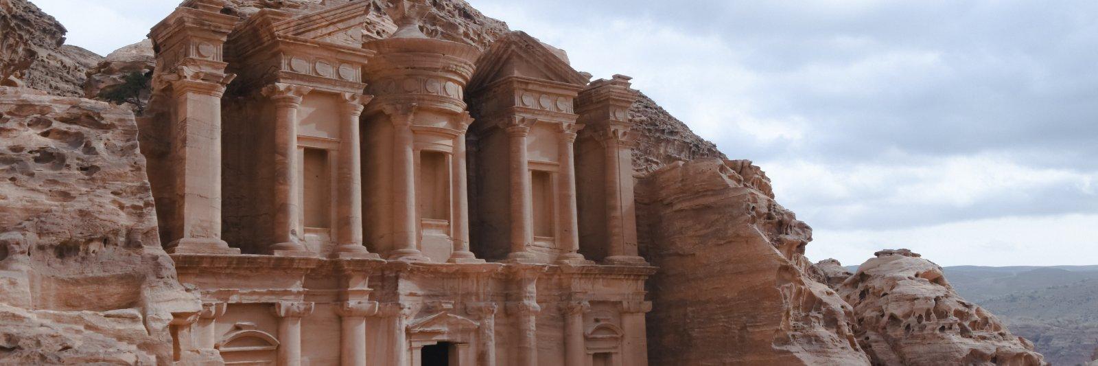 Ancient architecture in Petra, Jordan