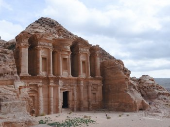 Ancient architecture in Petra, Jordan