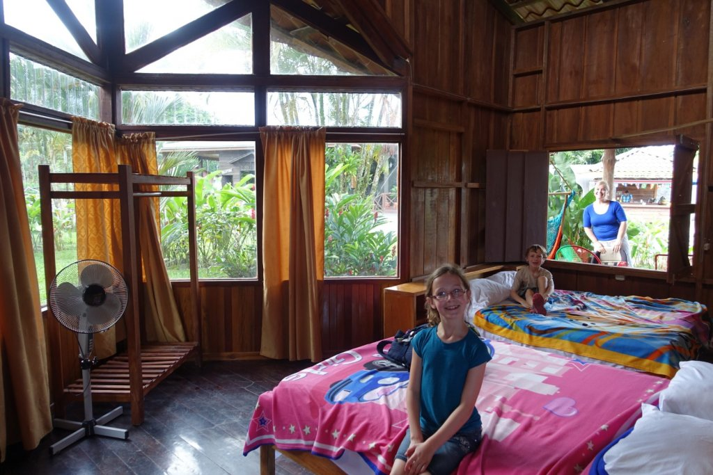 Inside our cabin at La Catarata