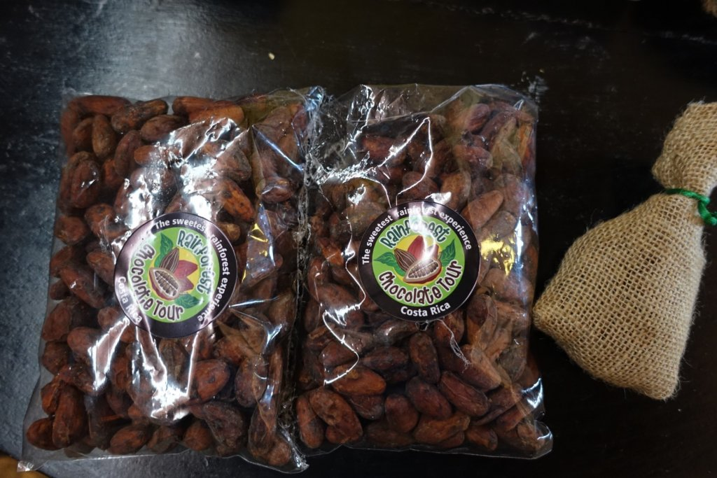 cocao beans in bags