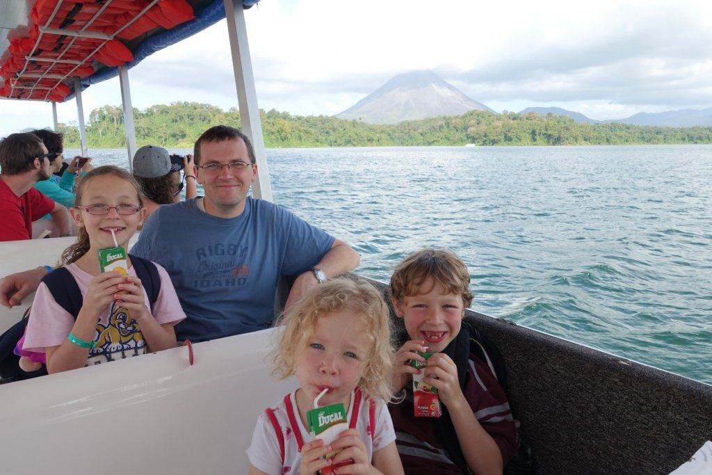boat ride between La Fortuna and Monteverde