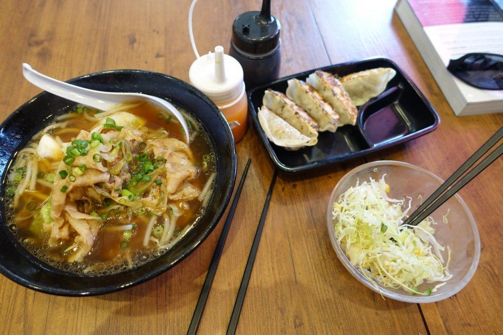 Japanese ramen and dumplings