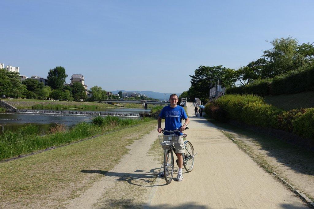 Bike path in Kyoto