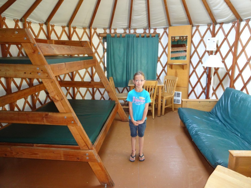Inside of the yurt at Nehalem Bay State Park