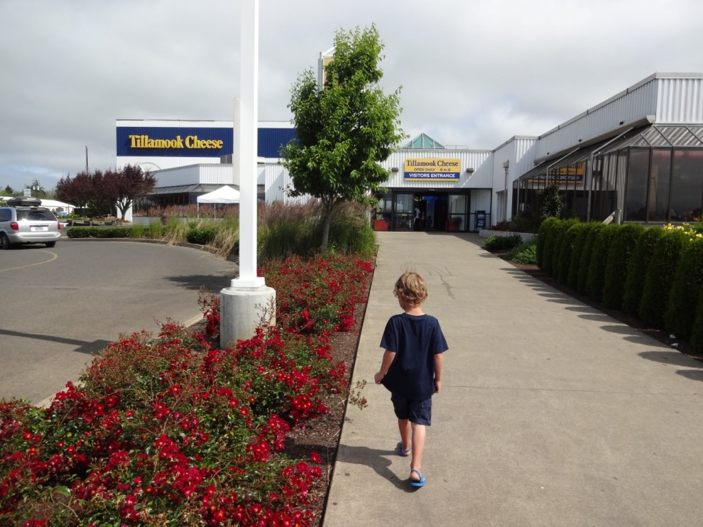 Outside the Tillamook Cheese Factory