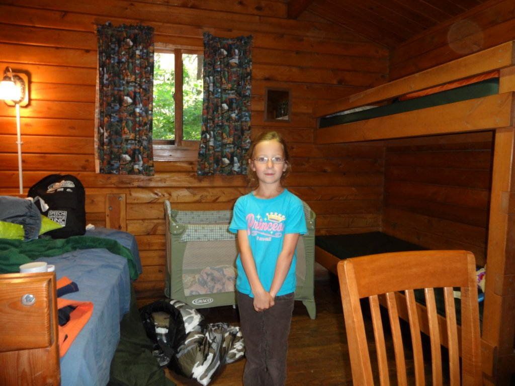 Inside the cabin at Cape Blanco State Park