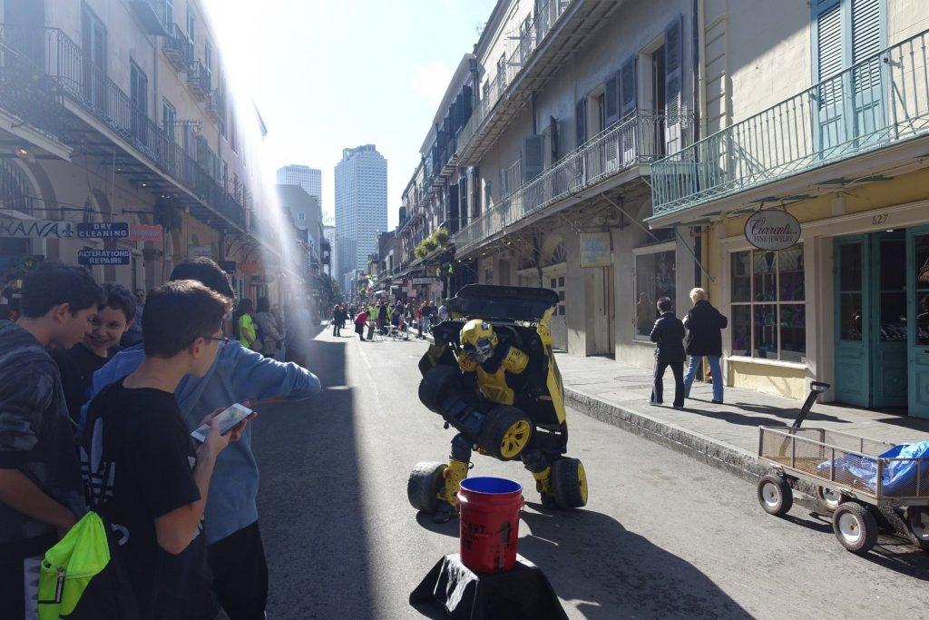 street performer as a transformer