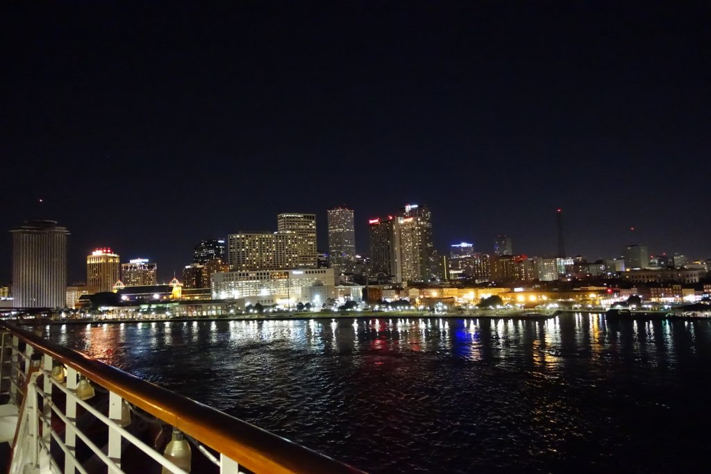 View of New Orleans at night
