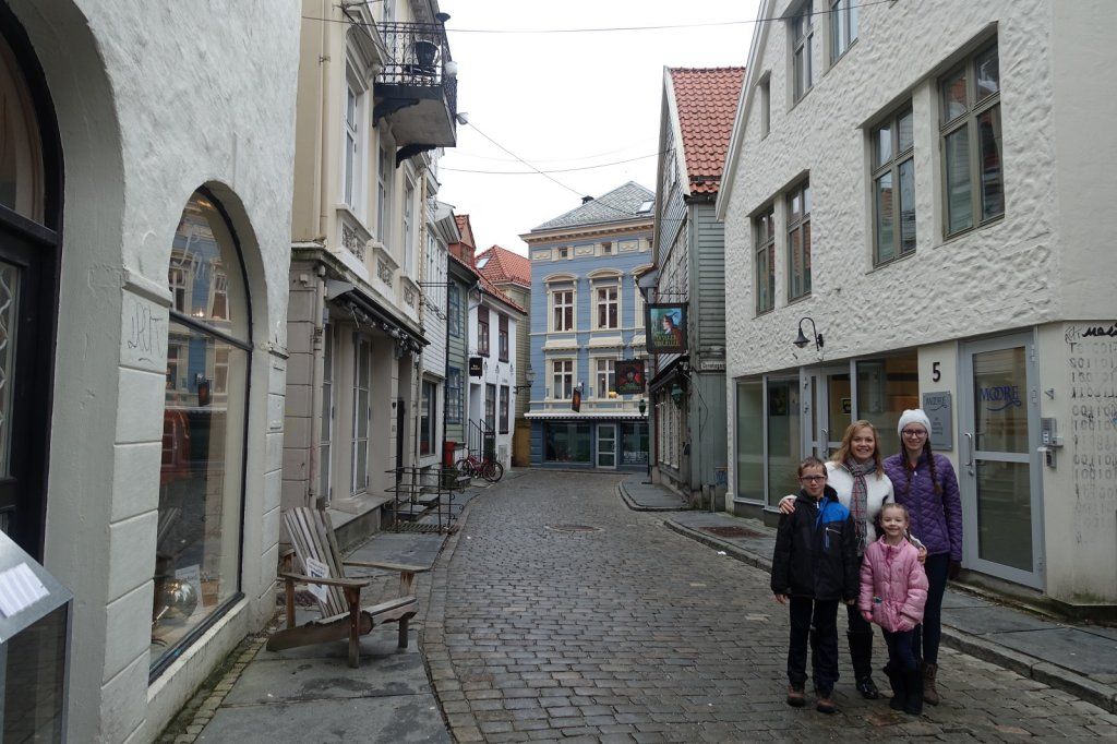Cobbled street in Bergen