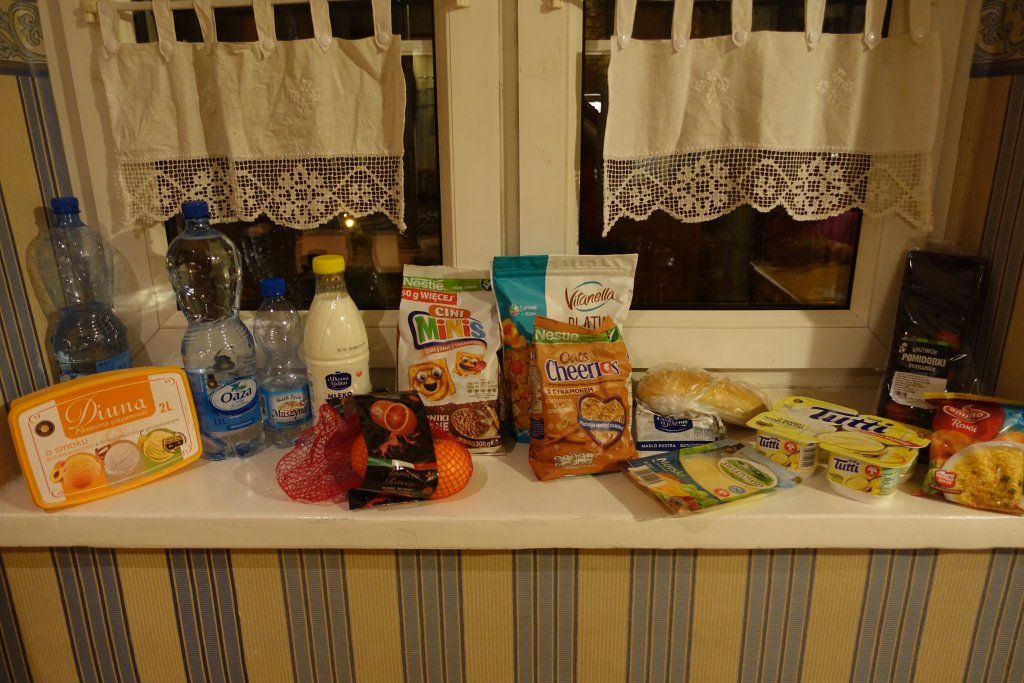 Food in Poland from grocery store