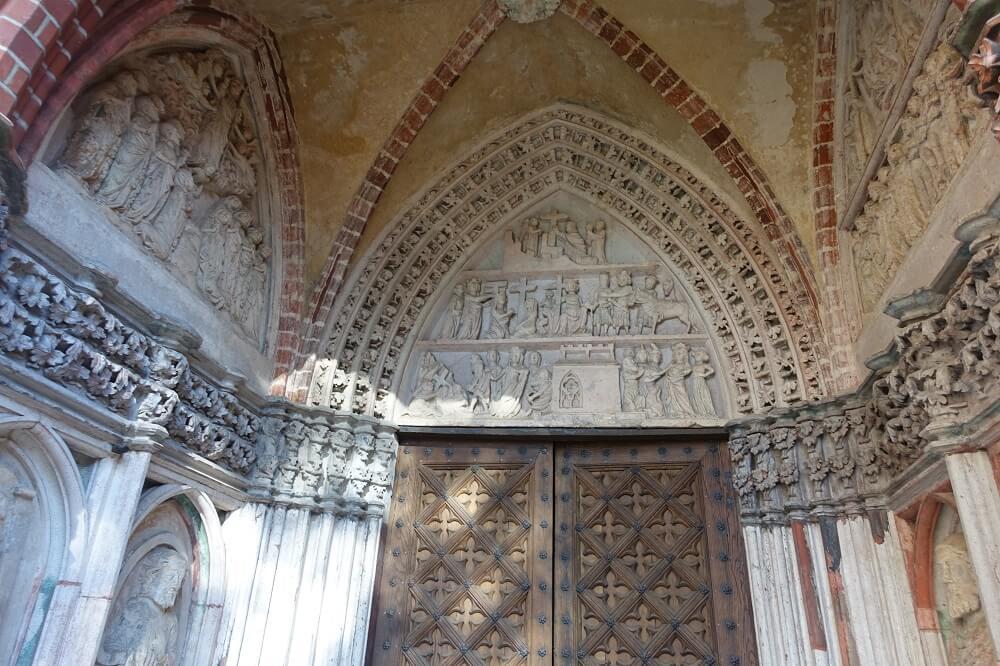 Intricate carvings in Malbork Castle