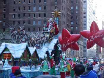 Santa Claus float in parade