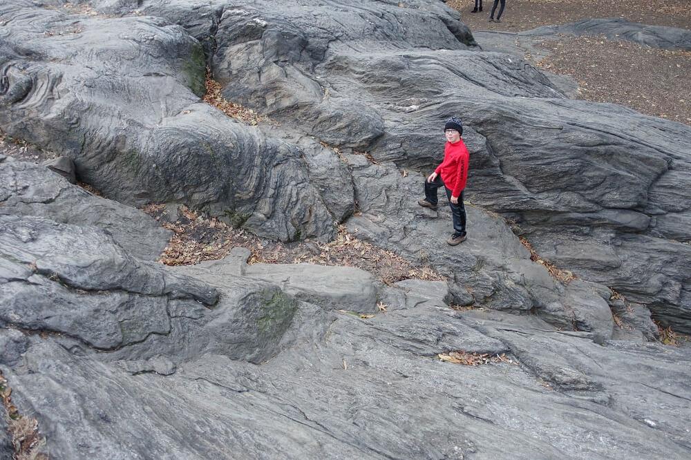 Central park boulders