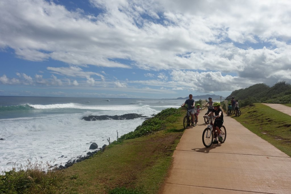 Biking along the ocean path