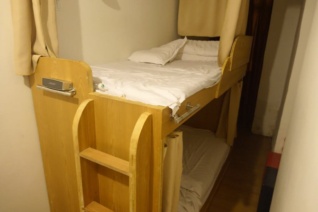 Sleeping area at hostel