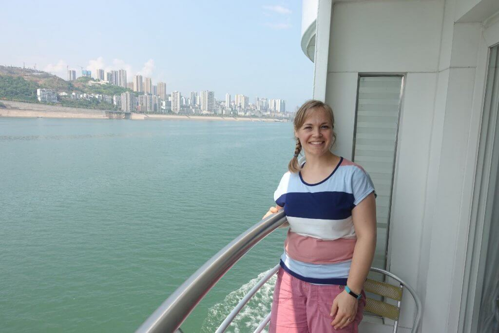 Balcony view on Century Diamond Cruise