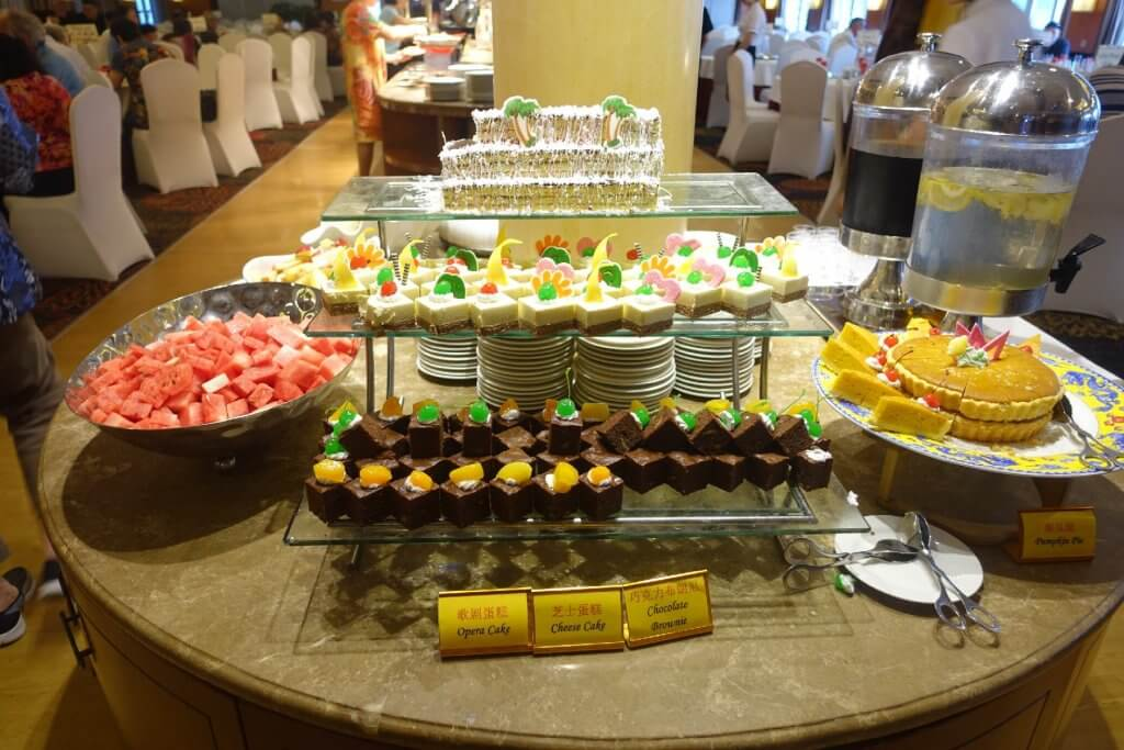 Sweets options on Century Diamond cruise
