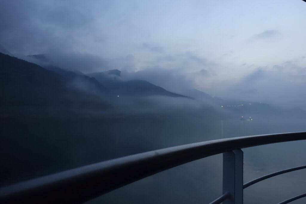 Morning mist on the Yangtze River