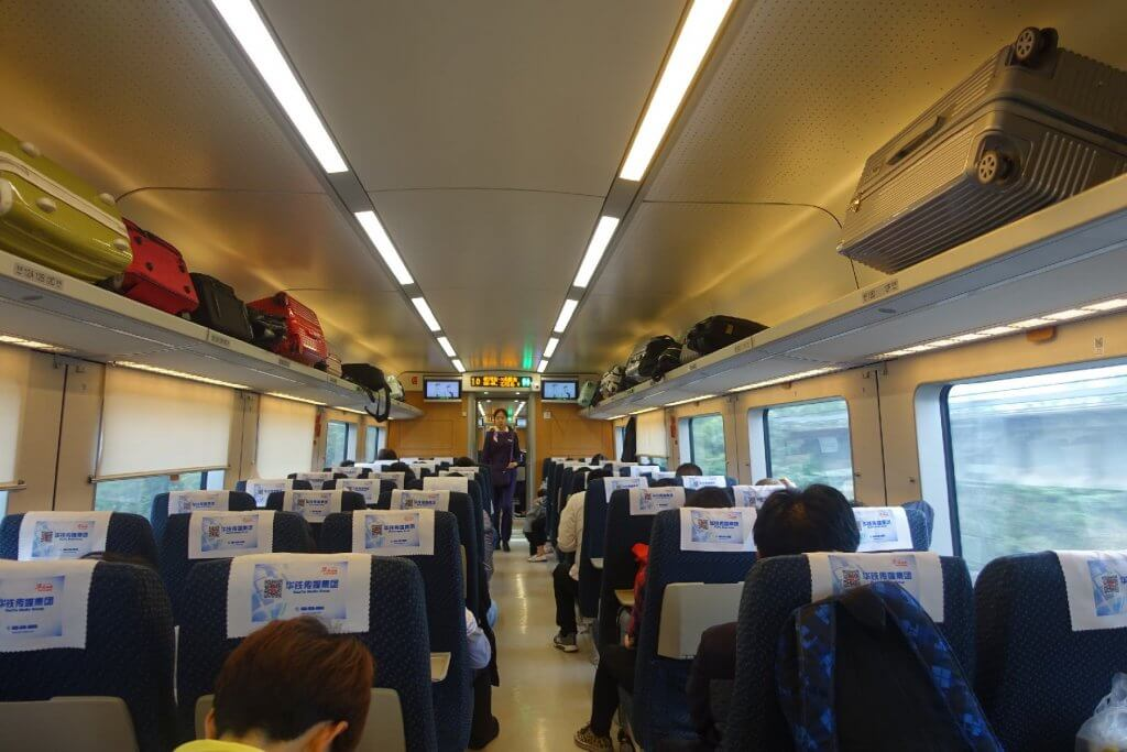 High speed train from Yichang to Chengdu