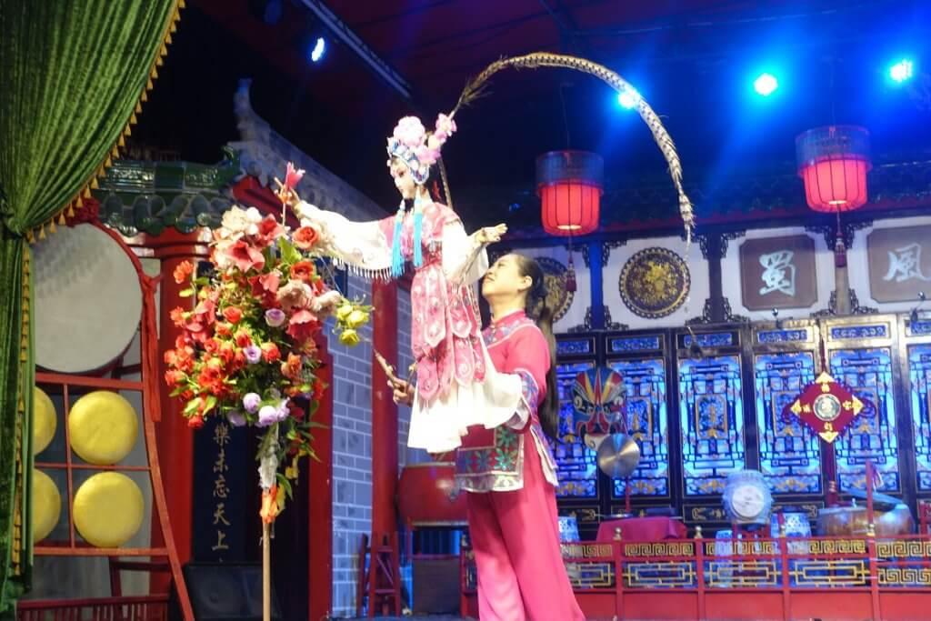 Hand puppet at Sichuan Opera