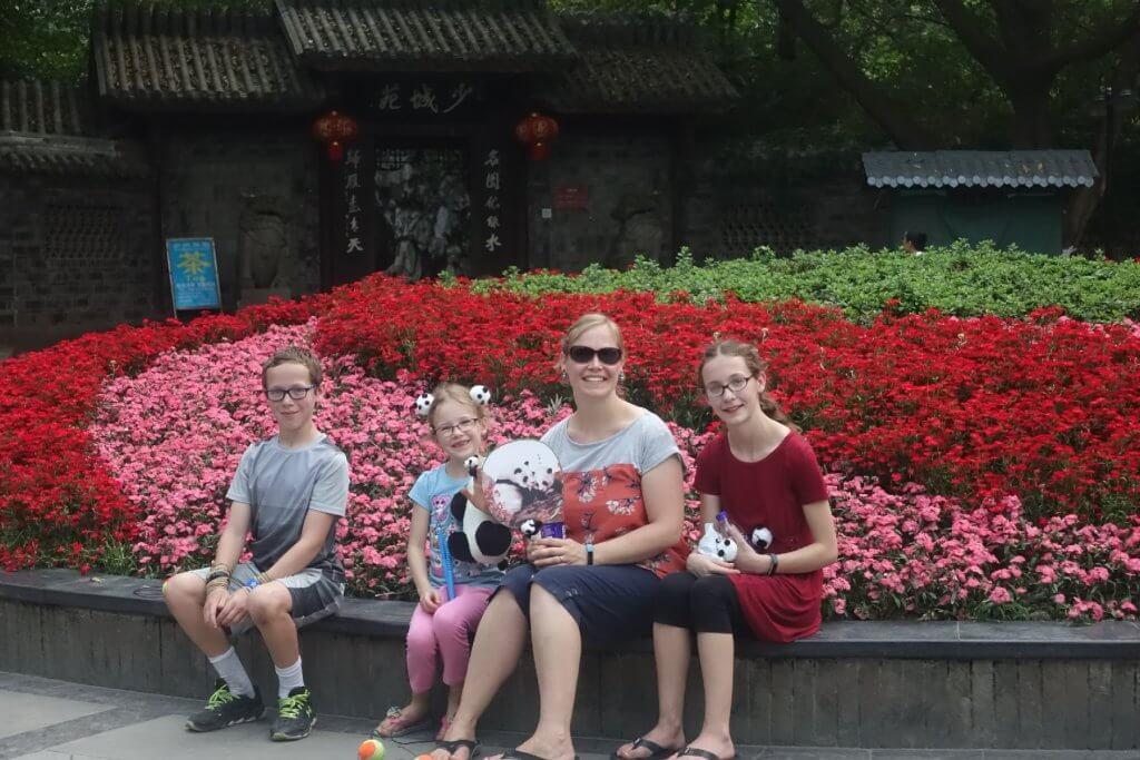 Flowers at People's Park in Chengdu