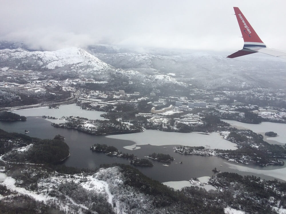 Bergen from the air
