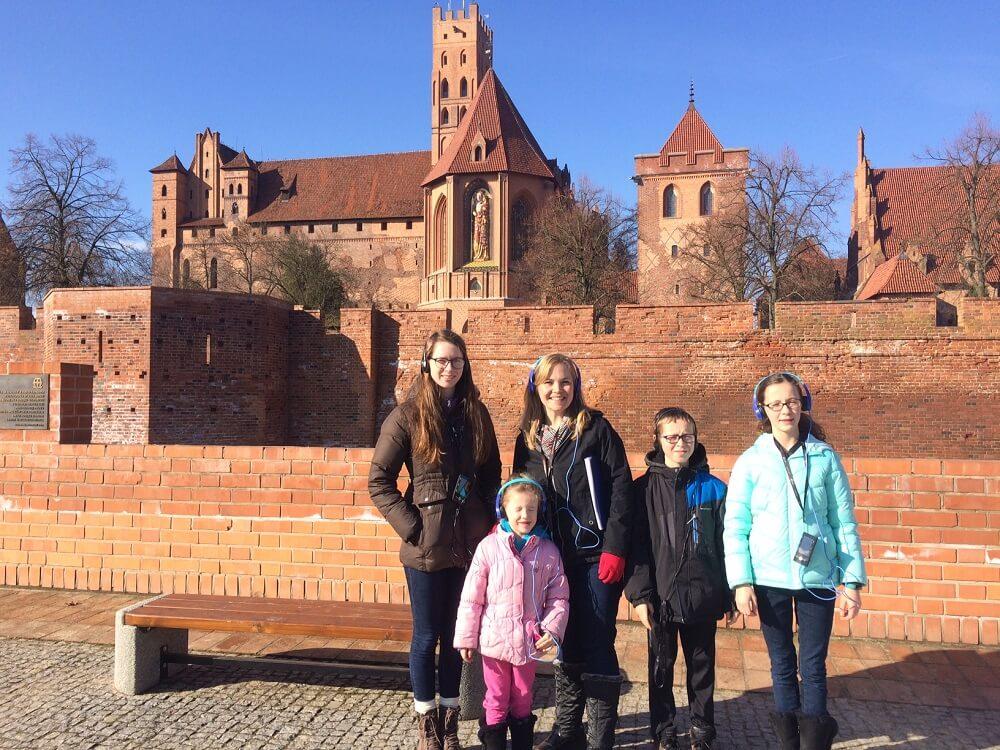 Starting the Malbork Castle tour