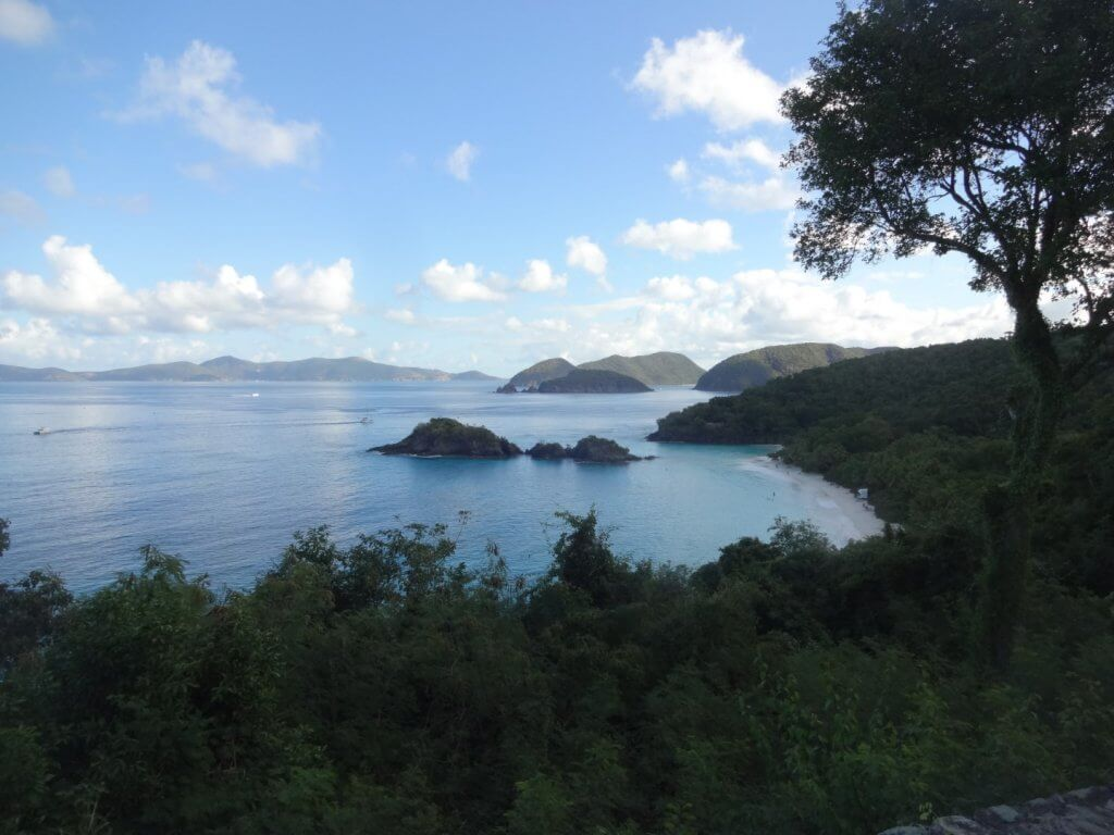 view of Cinnamon Bay on St. John