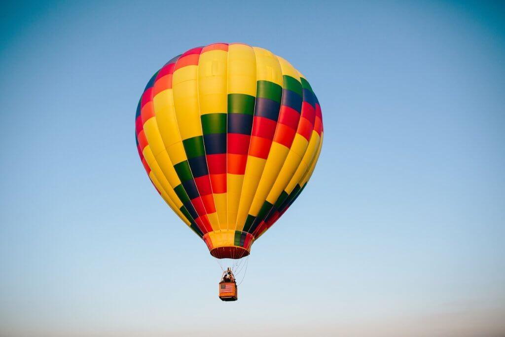 one hot air balloon