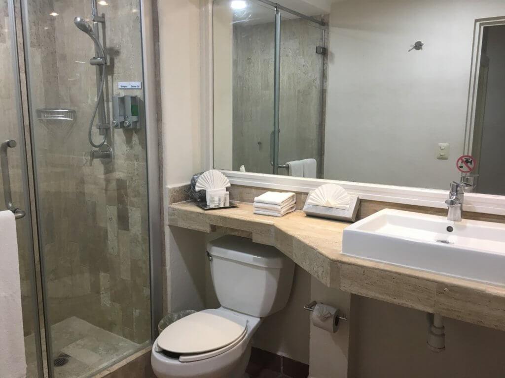 bathroom in hotel room
