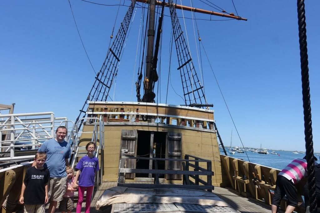 family on a ship