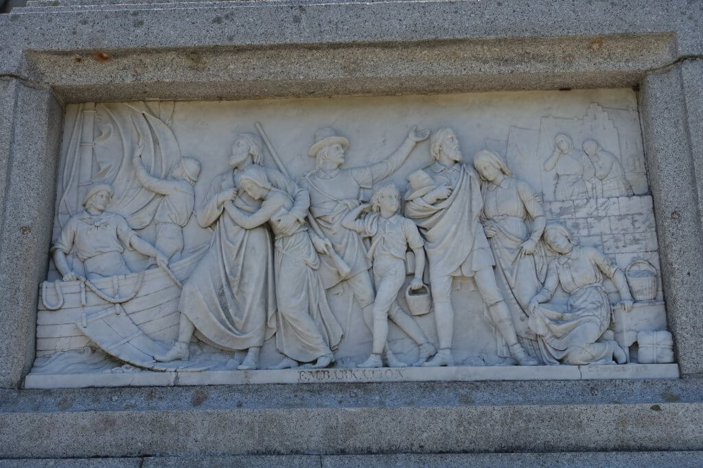 carving on a monument