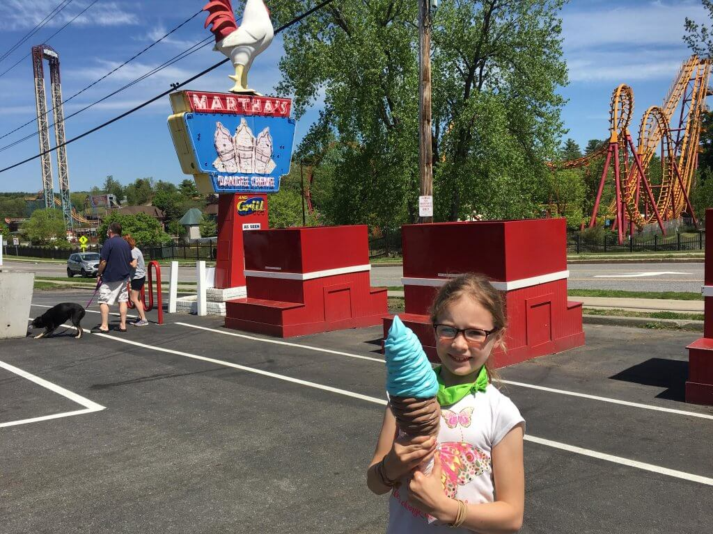 girl with huge ice cream cone