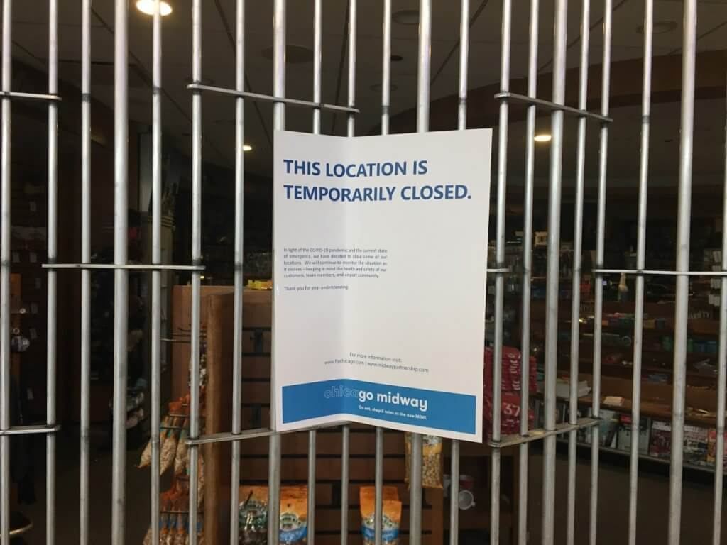 sign on closed store