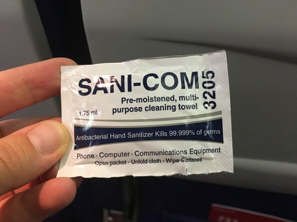 cleaning towel in package
