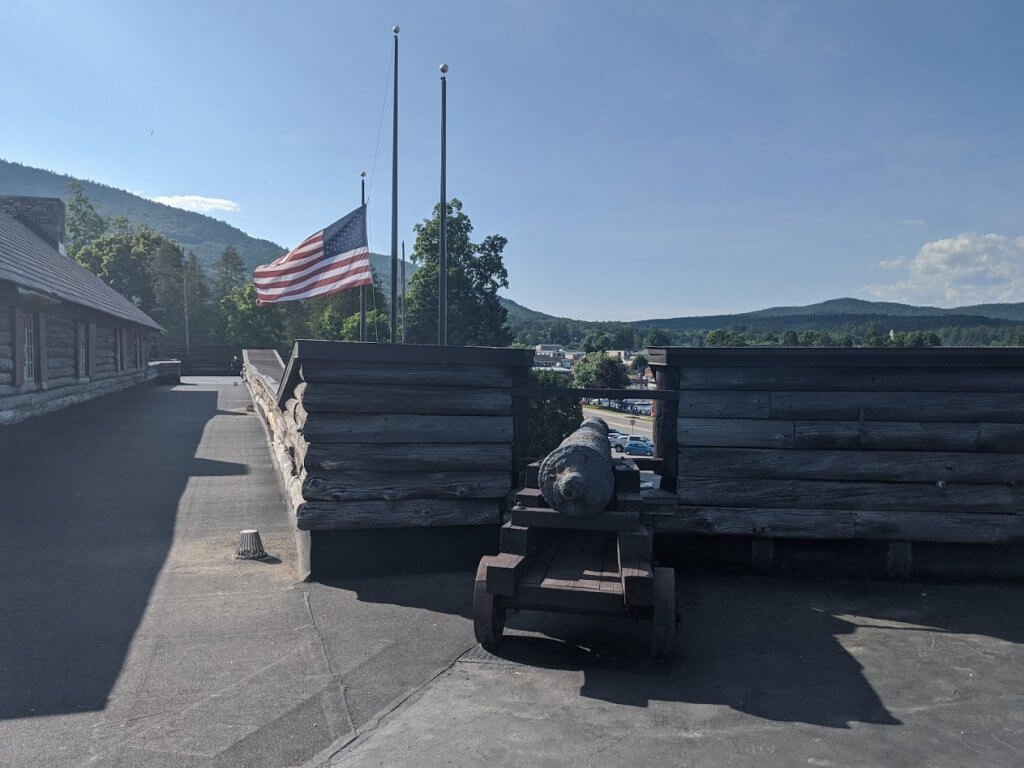 cannon and American flag