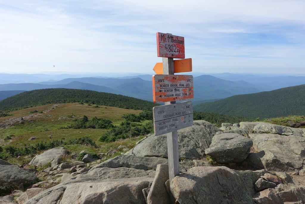 Mt. Moosilauke sign