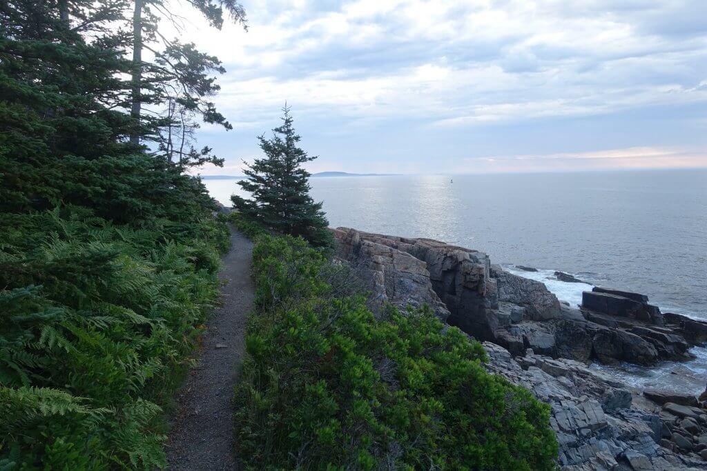 trail along ocean rocks