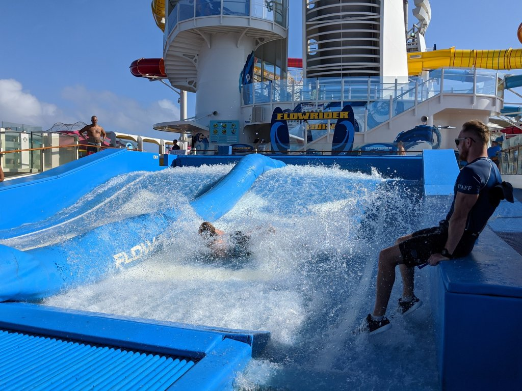 woman in the water on flowrider