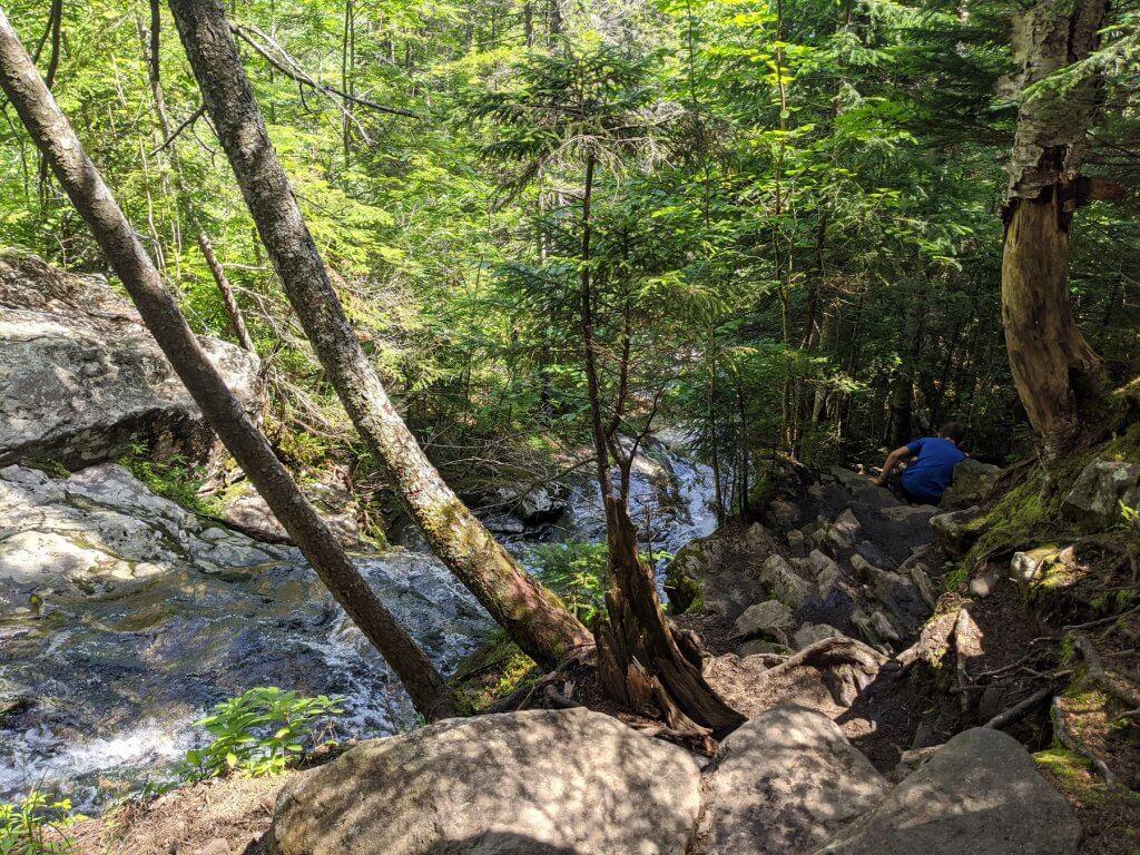 boy on rocky trail