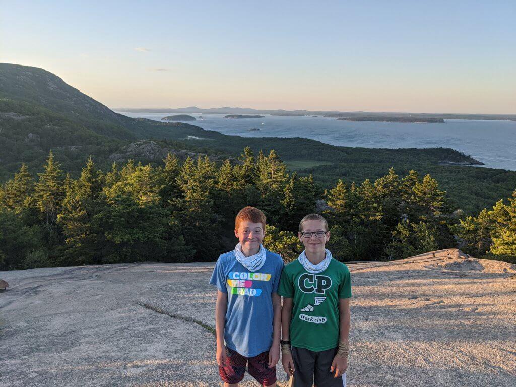 boys on mountaintop