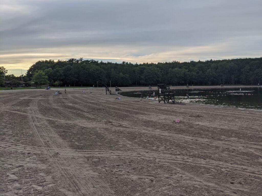 beach at lake