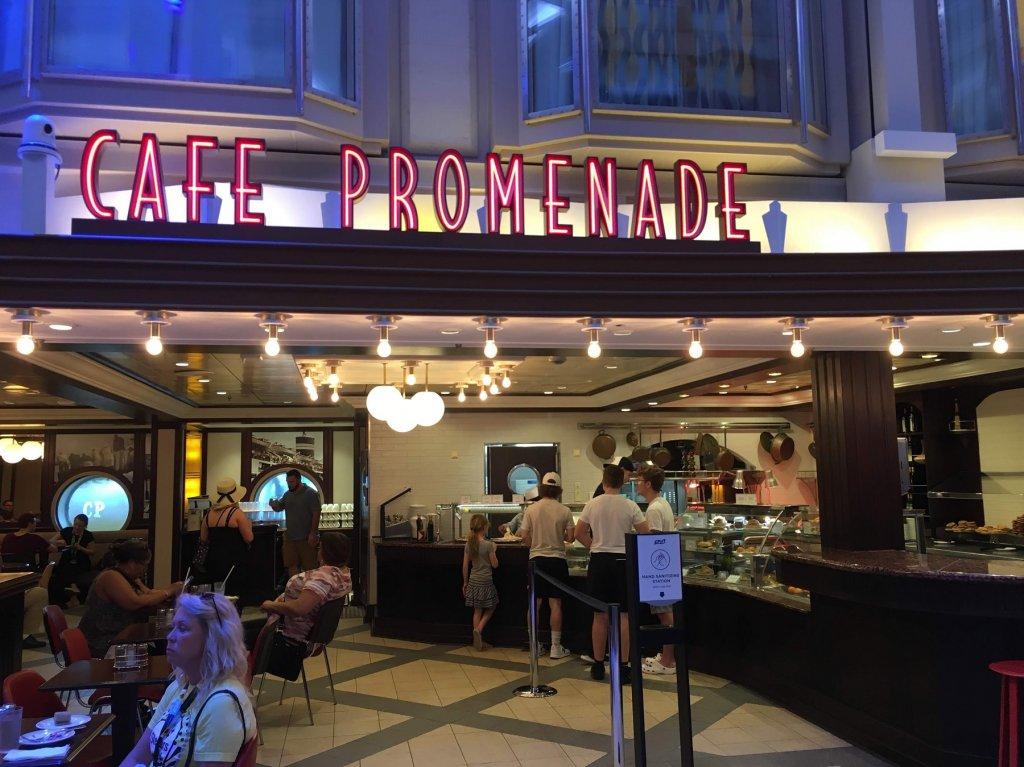 cafe on cruise ship