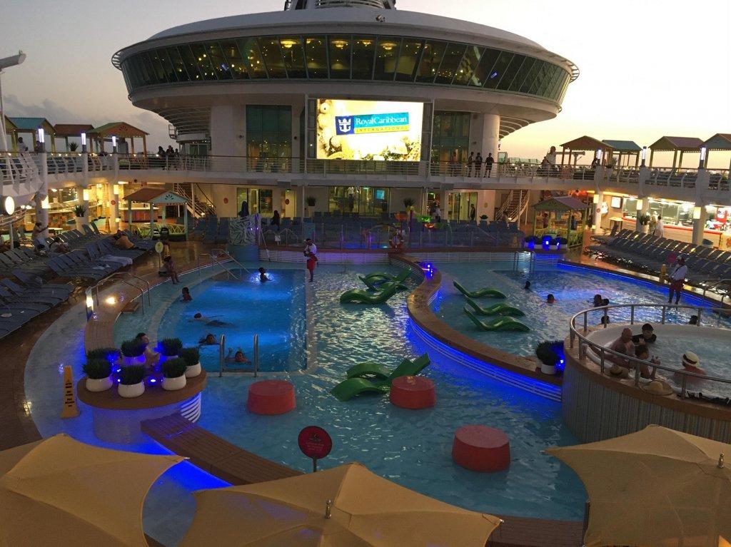 pool area on cruise ship