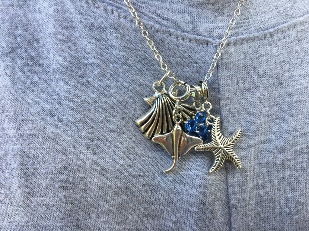 ocean charms on a necklace