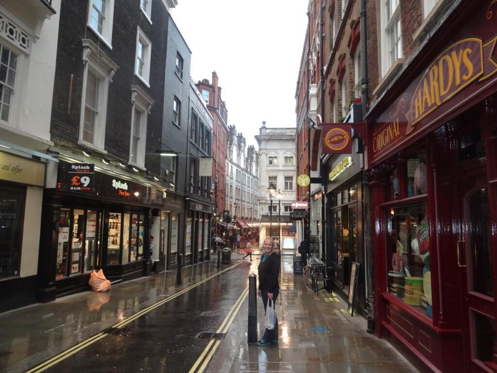 woman on a rainy street