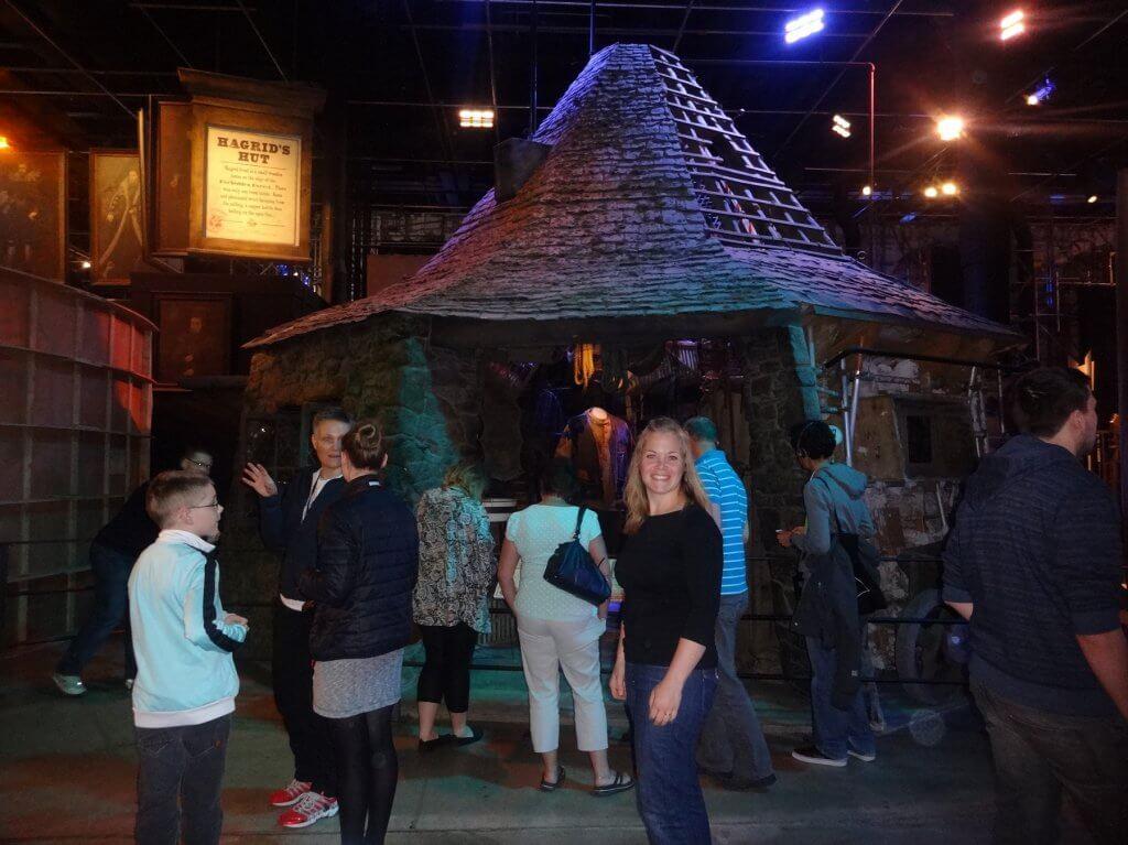 people in front of indoor shack