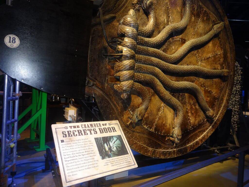 circular door with snakes
